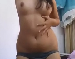 Beautiful Indian college girl strip tease 1