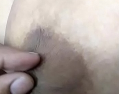 Desi Wife Enjoying Big Boobs nipps pulled