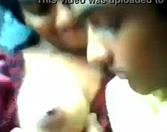 Indian legal age teenager ecumenical boobs deep throated by boyfriend