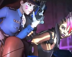 Functionary D.VA X Sombra Overwatch animation older