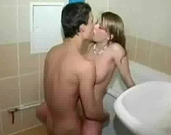 Step brother and sister near a bath 00