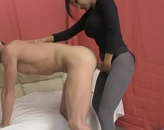 Sexy Indian Sex Psychiatrist Fucks Chap forth Strapon and Titty Fucks him