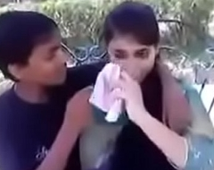 Indian teen kissing and beyond hope bosom approximately public
